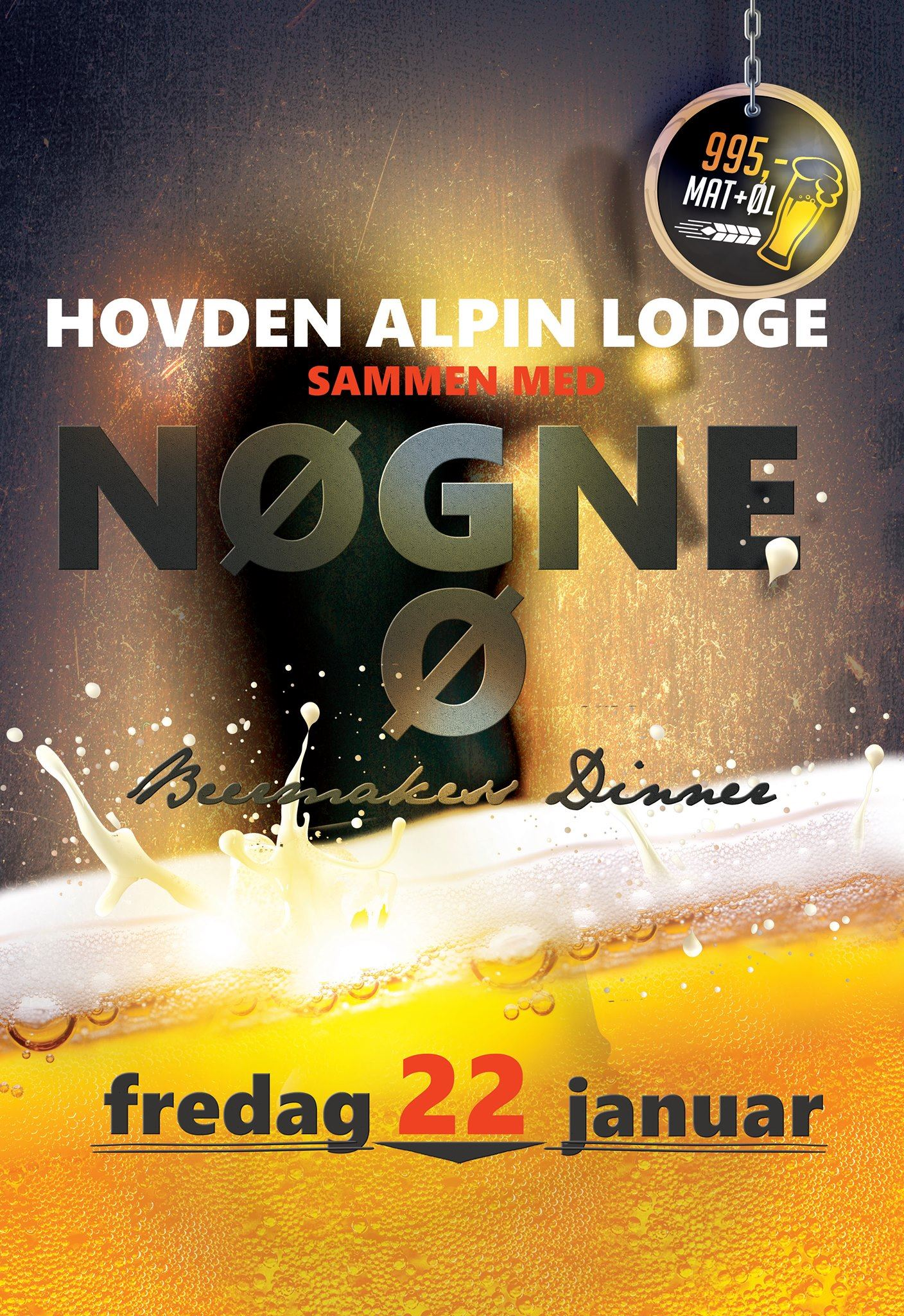 Beermakers dinner med Nøgne Ø på Hovden Alpin Lodge