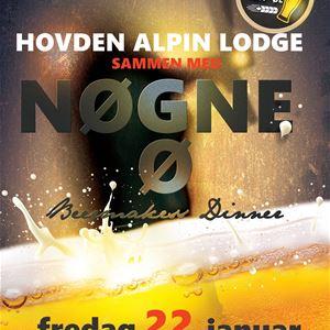 Beermakers dinner med Nøgne Ø på Hovden Alpin Lodge