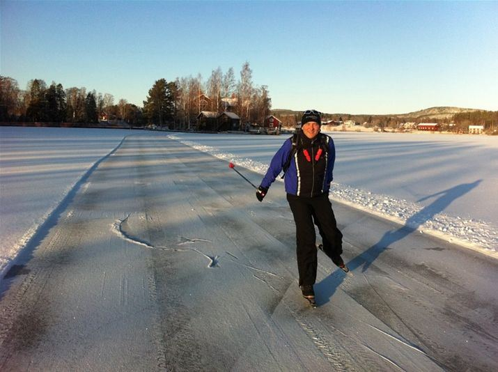 Long-distance skating in Tavelsjö