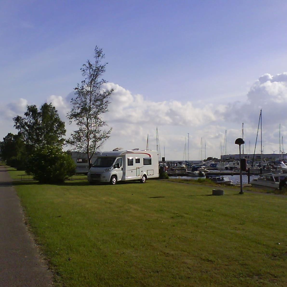 Lundåkrahamnen, Wohnmobilstellplätze