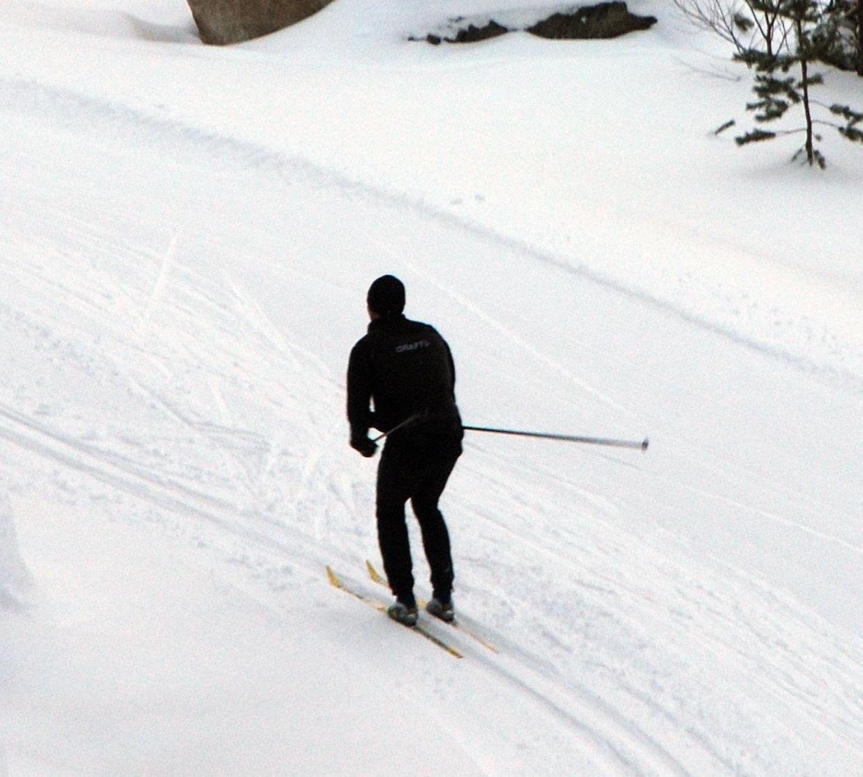 Cross country skiing tracks in Hällmyra, Söderhamn