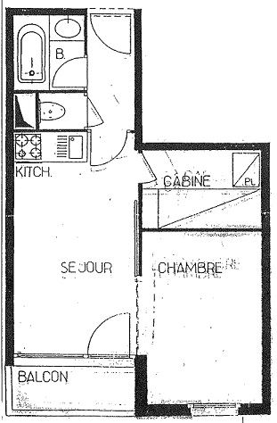 ARCELLE 403 / APPARTEMENT 2 PIECES 4 PERSONNES - 1 FLOCON BRONZE - CI