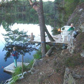 © ©, Avkopplande fiske i Hagtjärn i Bengtsfors