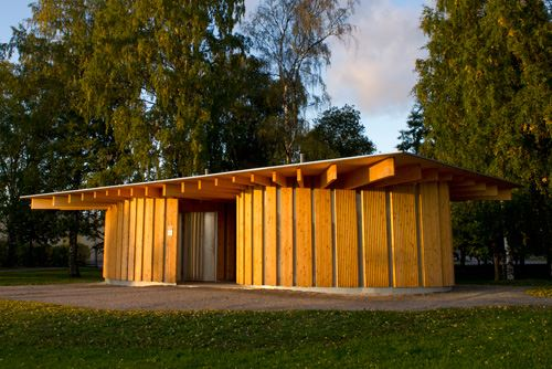 Wood architecture park: Changing hut