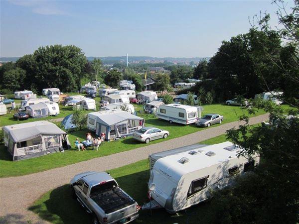 Fjordlyst Camping, eigener Wagen mit Süddanischen Kuchenbuffet