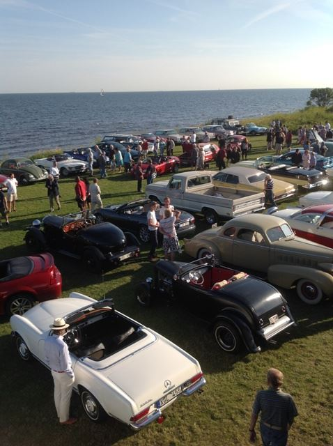 Veteran car gathering