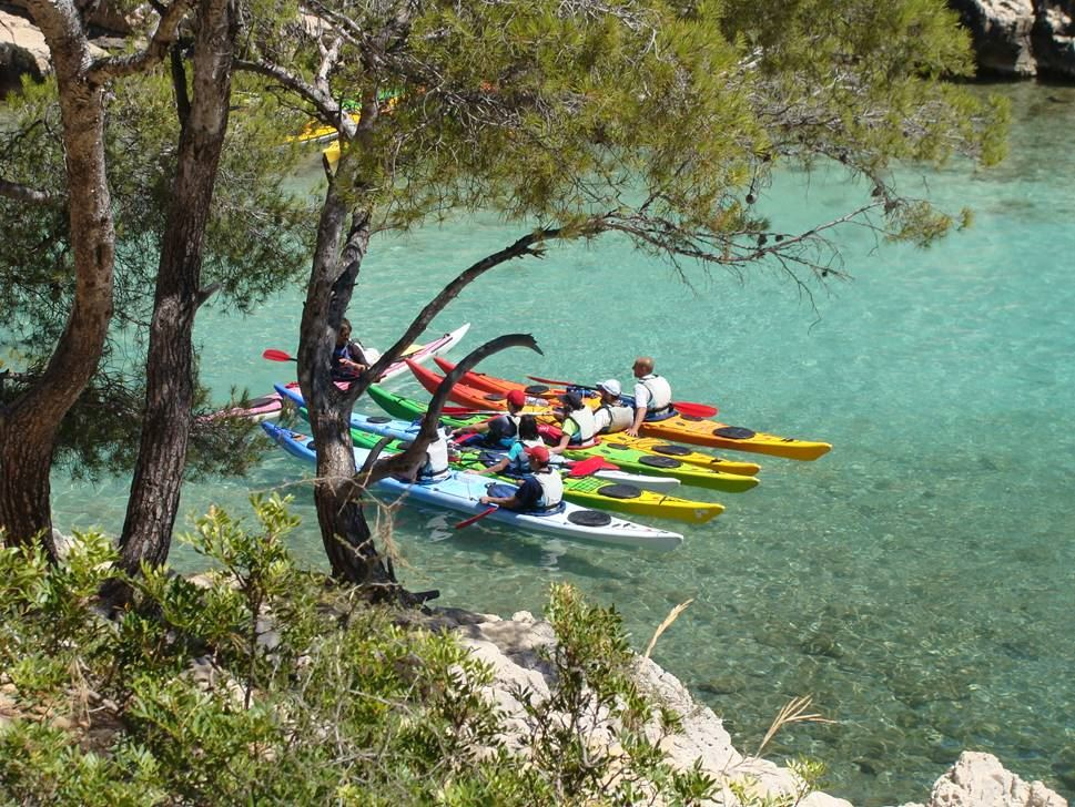 Half day in the Calanques National Park by kayak.