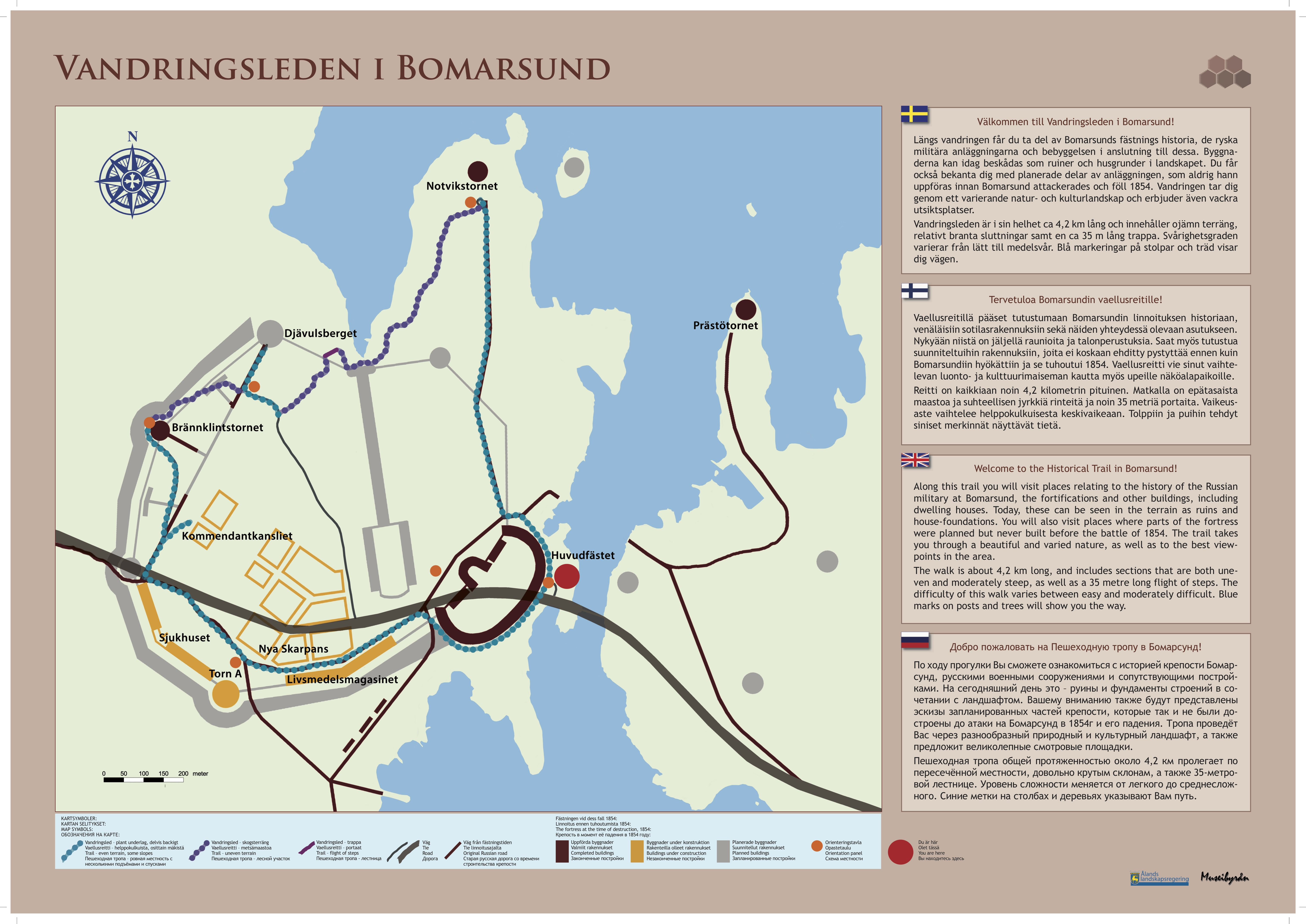 The Historical Trail in Bomarsund