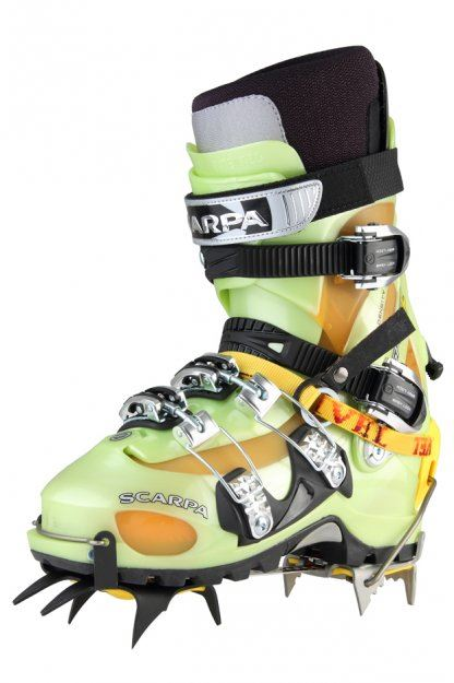 Crampons for touring ski boots