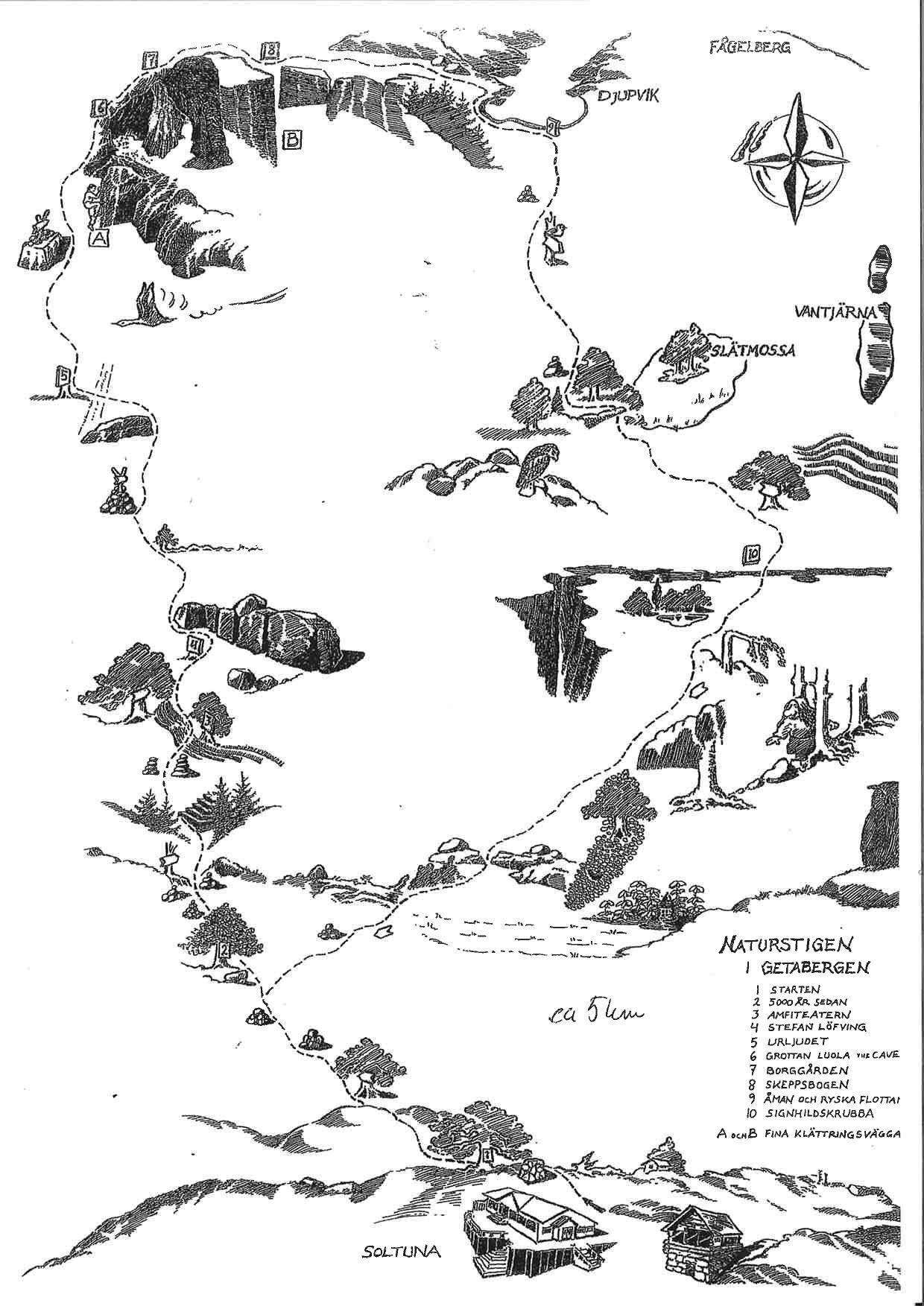 Grottstigen - Naturstigen i Getabergen