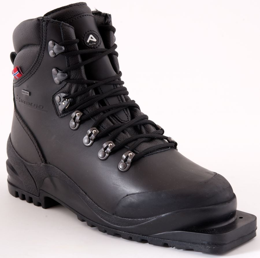 10. Cross Country Leather Boots With 75mm Telemark Binding