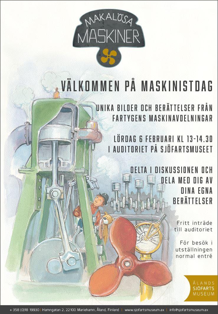 Maskinistlördag på Ålands sjöfartsmuseum
