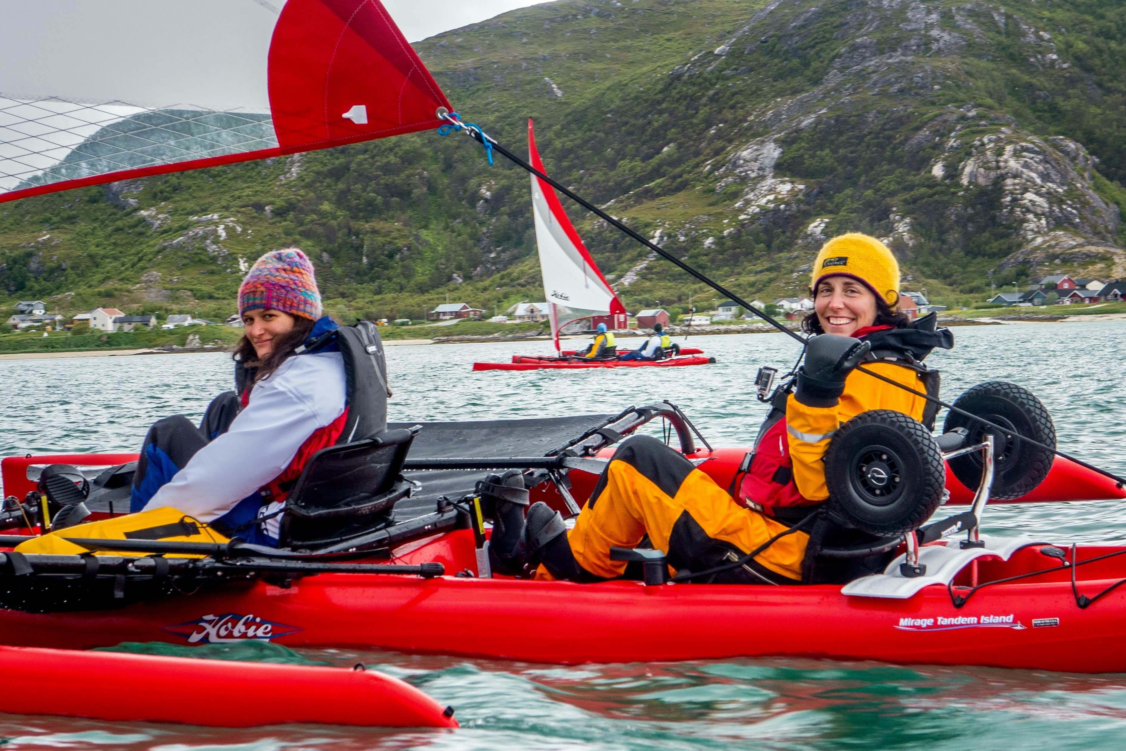 David Gonzales,  © 69 Nord Sommarøy outdoor Center, Seks-dagers tur med Seilkajakk og vandring utenfor allfarvei – 69 Nord Sommarøy Outdoor Center