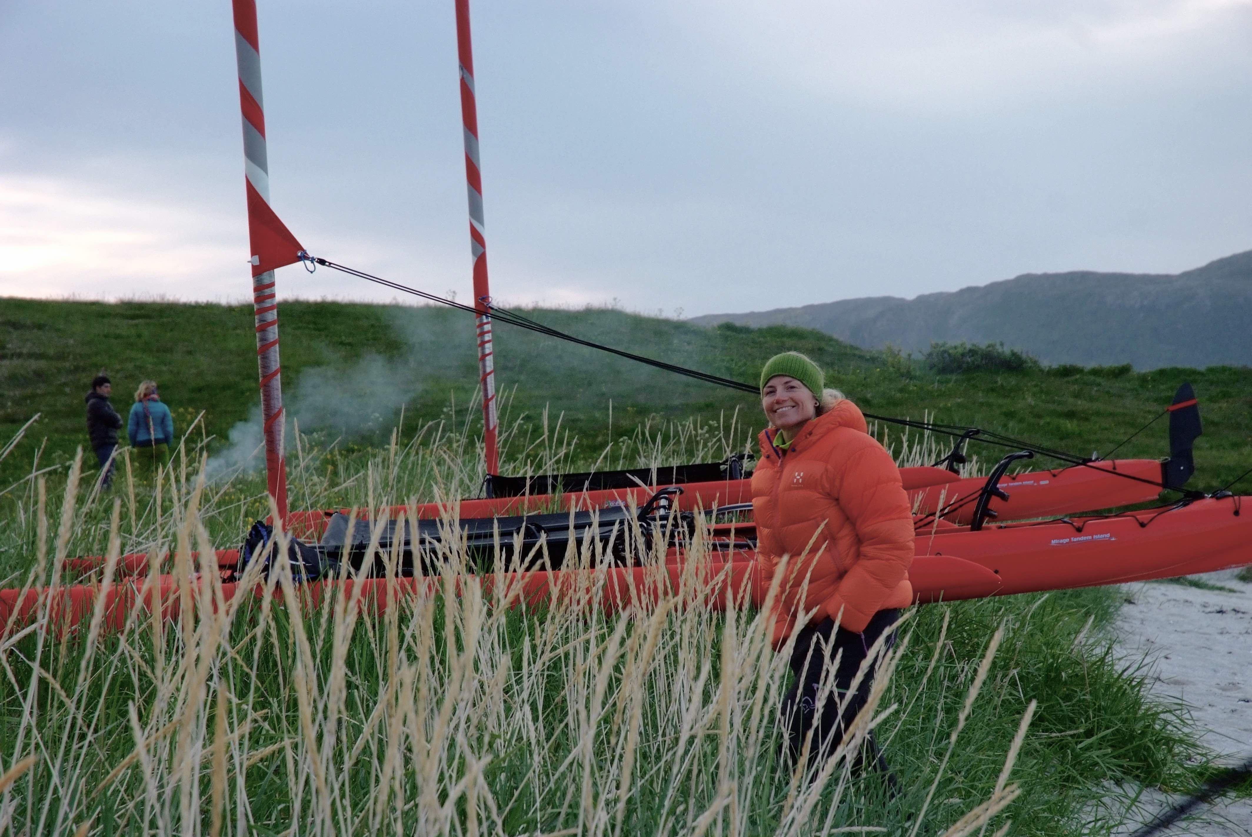 Isabelle Berger,  © 69 Nord Sommarøy outdoor Center, Seks-dagers tur med Seilkajakk og vandring utenfor allfarvei – 69 Nord Sommarøy Outdoor Center