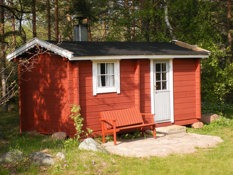 .Harnäs Stugor: Röda Stugan- Das rote Ferienhaus