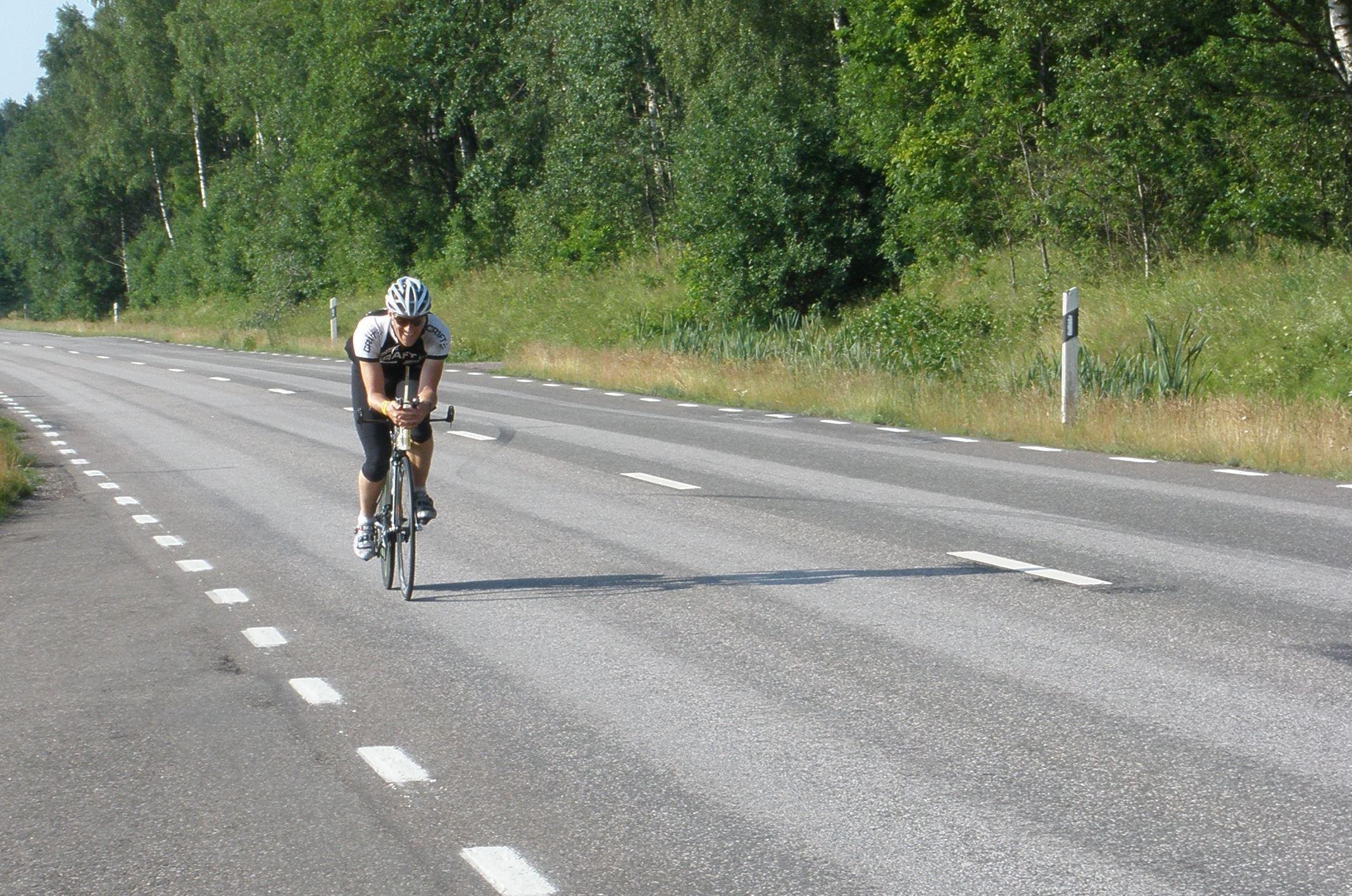Cykling: Sirkön tur och retur, 76 km