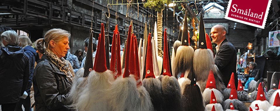 Julmarknad på Åminne Bruk