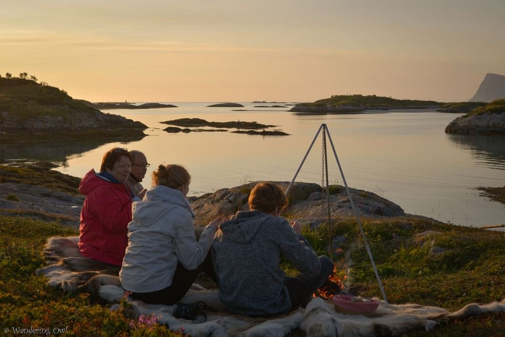 Summer Night Campfire - a Fjord Tour with Dinner and Photography