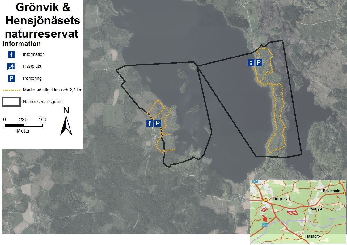 Das Naturreservat Hensjönäset