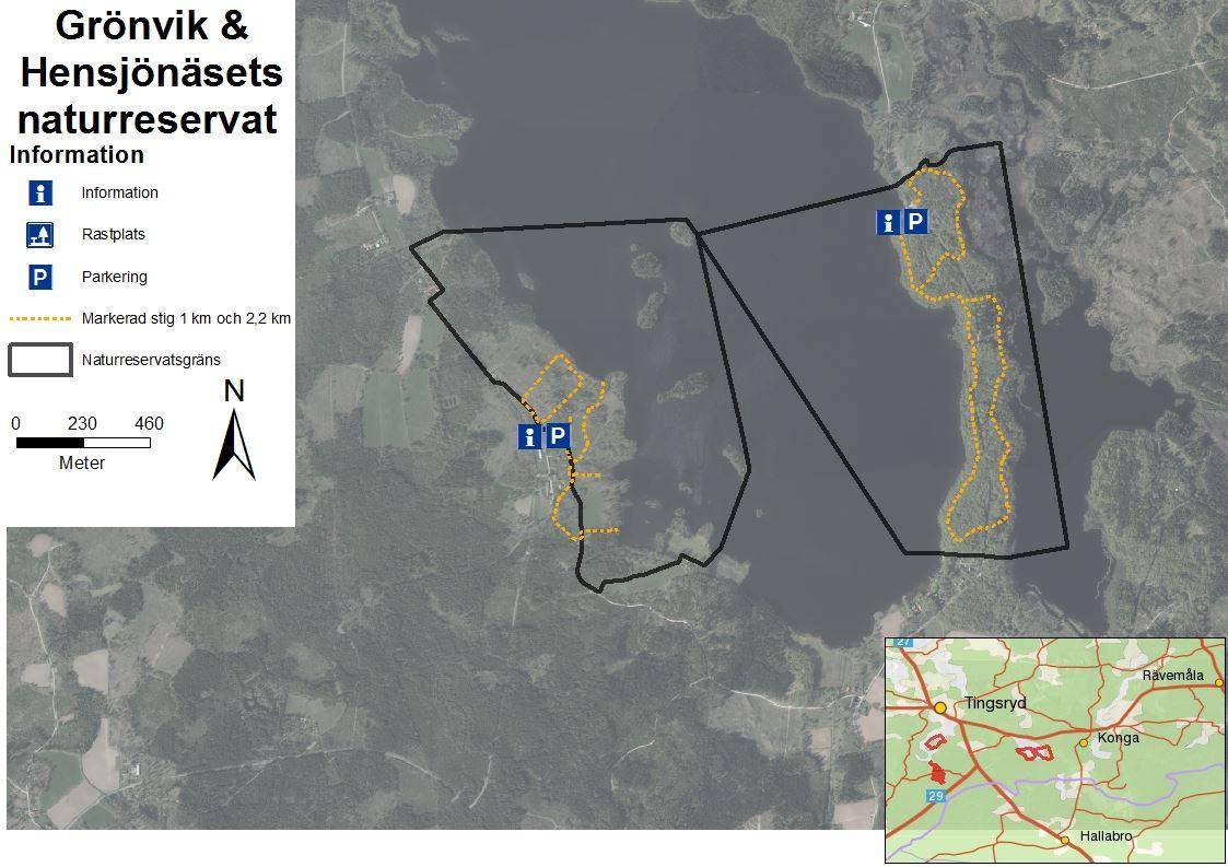 Grönvik & Hensjönäsets naturreservat