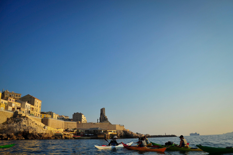 Coucher de soleil en kayak de mer