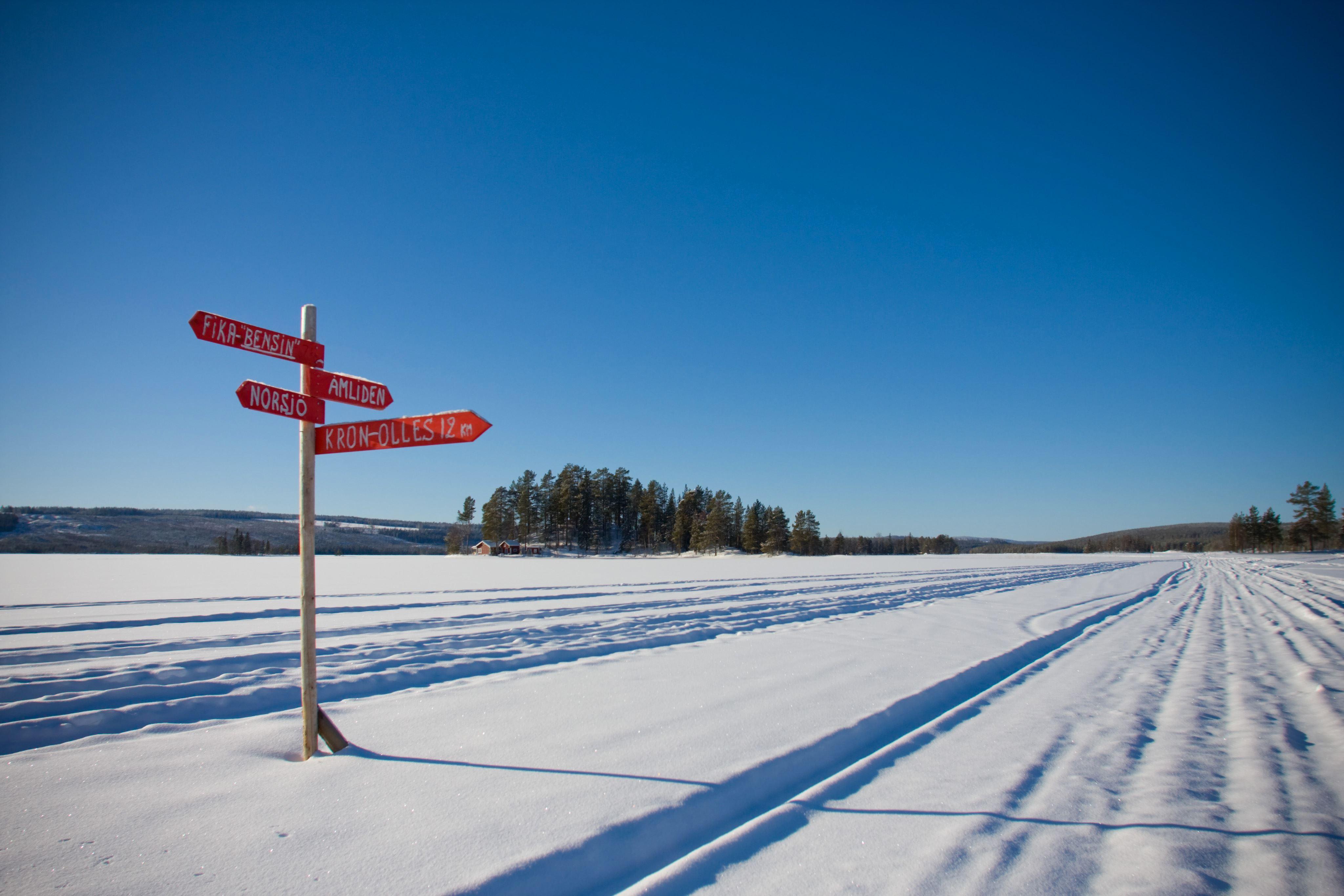 Skoterutflykt Åmlidens utsiktsplats