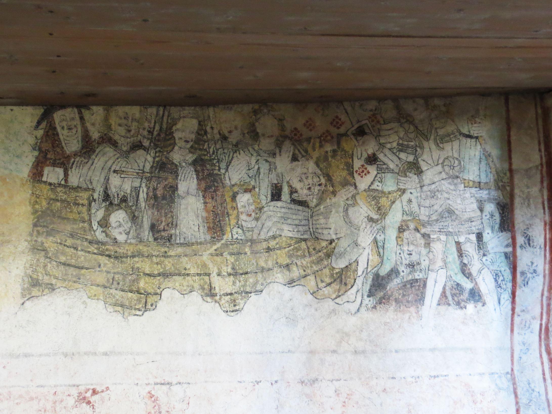 © Ådalsbygdens pastorat, Väggmålning i Ytterlännäs gamla kyrka
