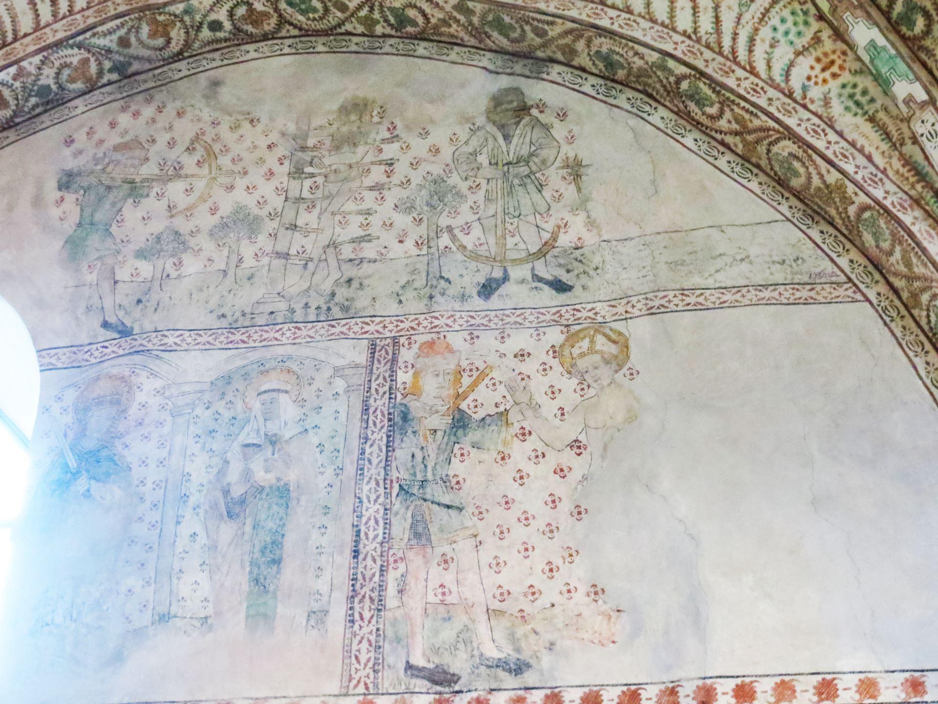 © Ådalsbygdens pastorat, Väggmålning i Torsåkers kyrka