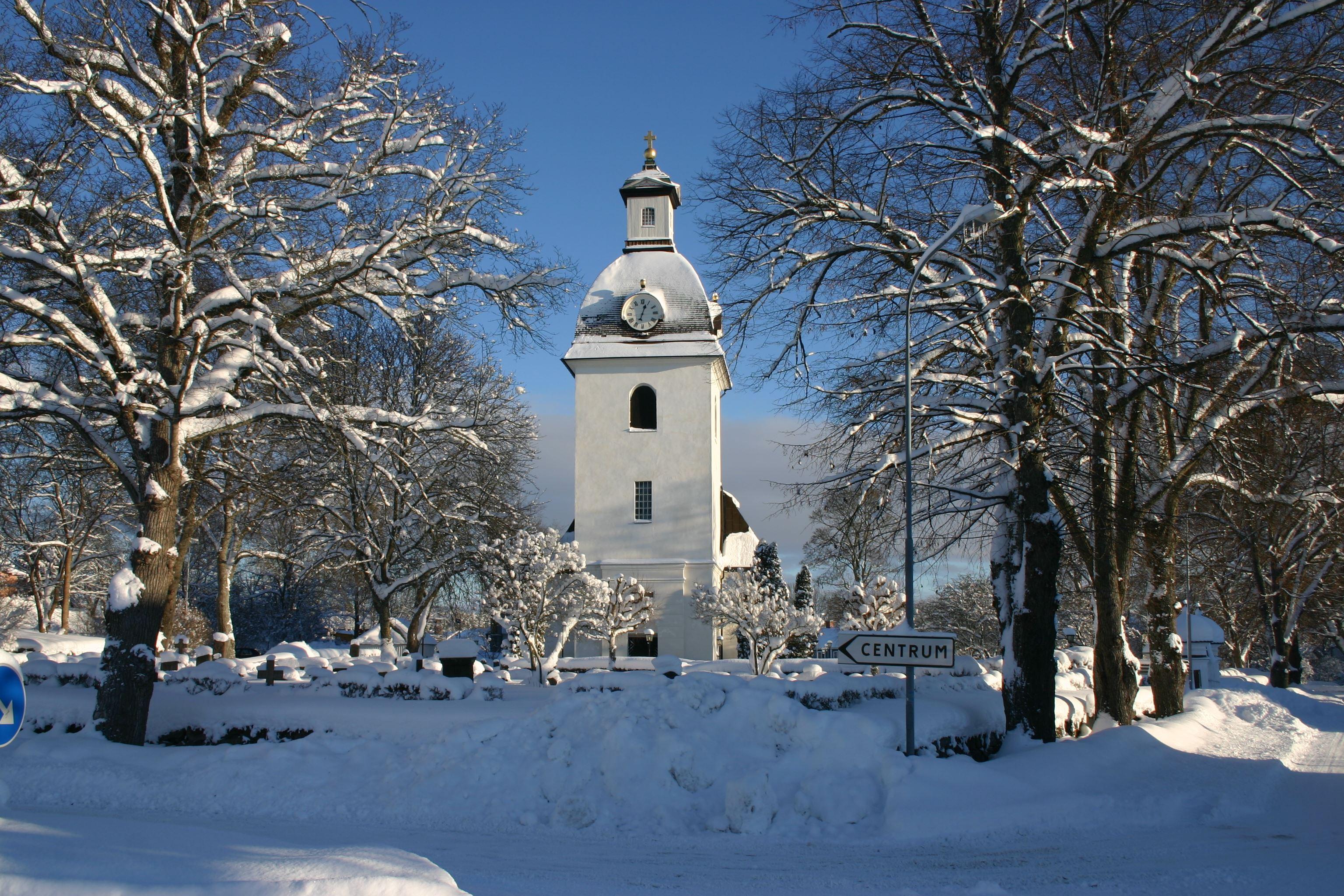 Nils Thorén, Kristdala kyrka i vinterskrud
