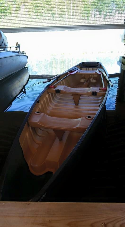 Canadian kayak for up to 3 persons