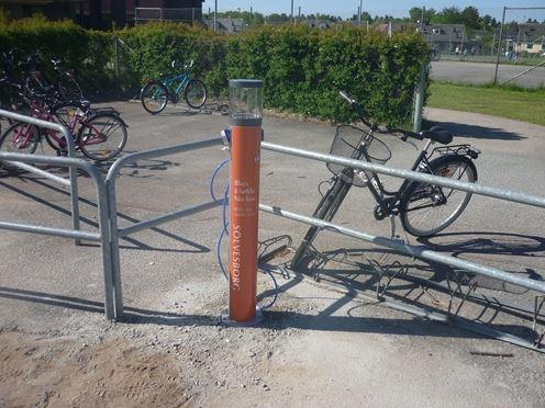 Bicycle pump Järnvägsparken