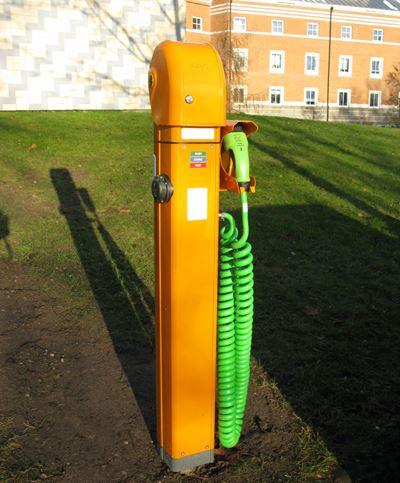 Laddstolpar för elbilar