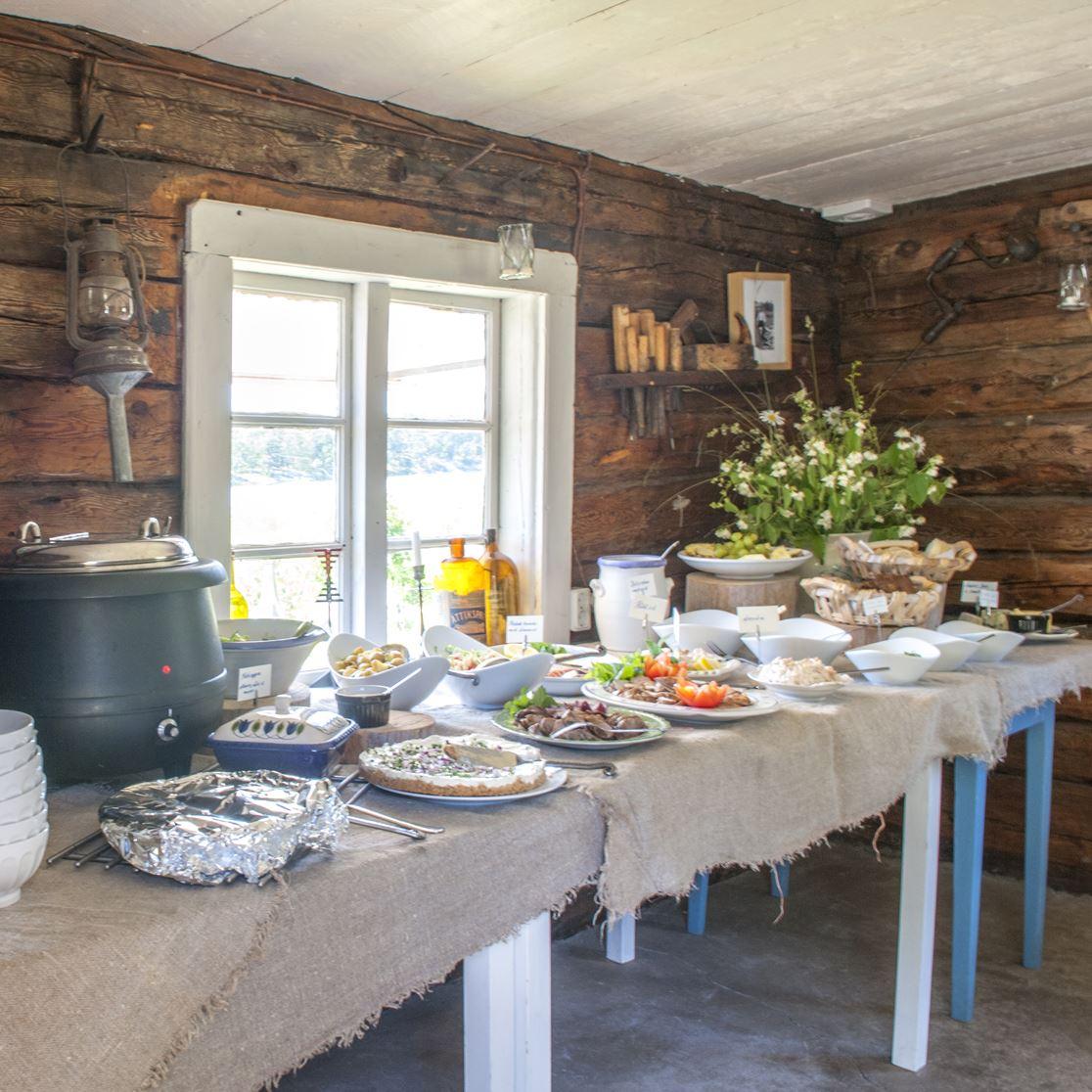 Archipelago buffet at Restaurant Sjökanten, Hasselö