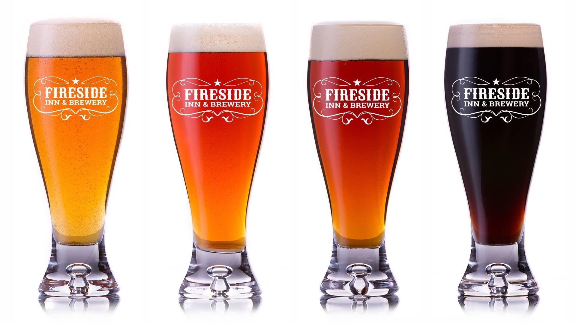 Husets öl på Fireside Inn Brewery