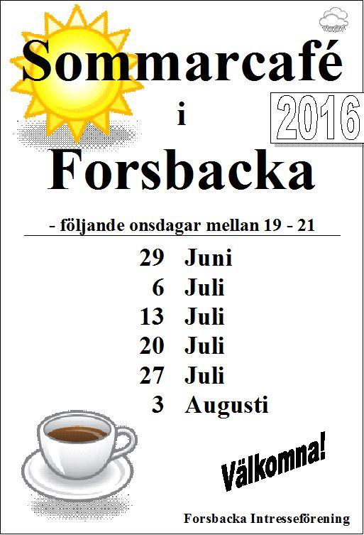 Sommarcafé i Forsbacka