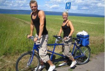 Cykeluthyrning på Råbocka camping