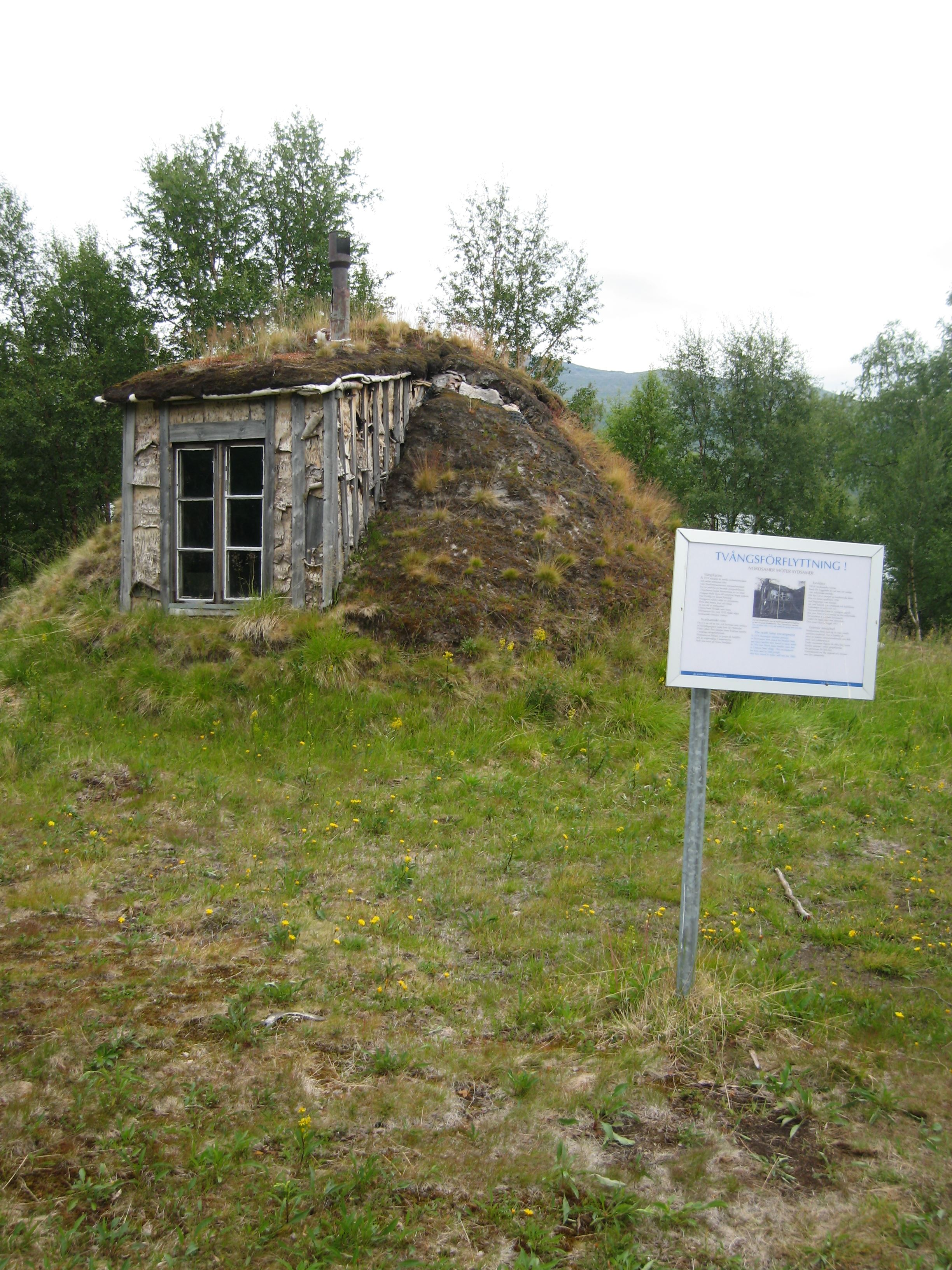 The Sami settlement at lake Gausjosjön