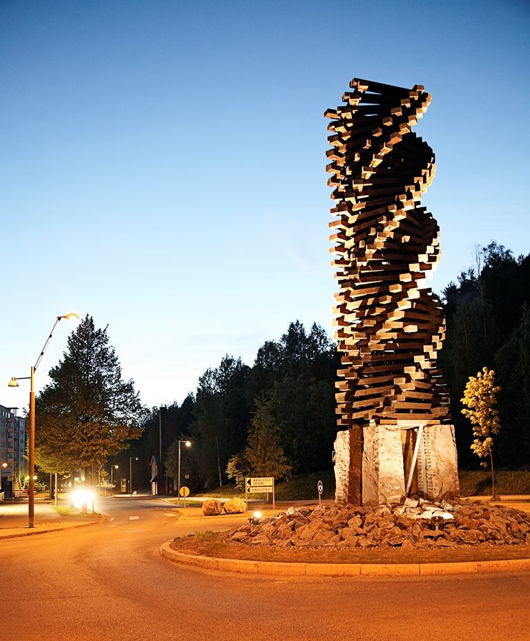 Wood architecture park: Wooden Spiral