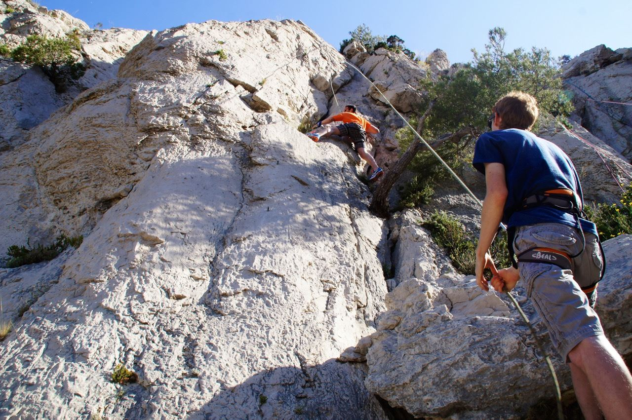 Rock climbing calanques