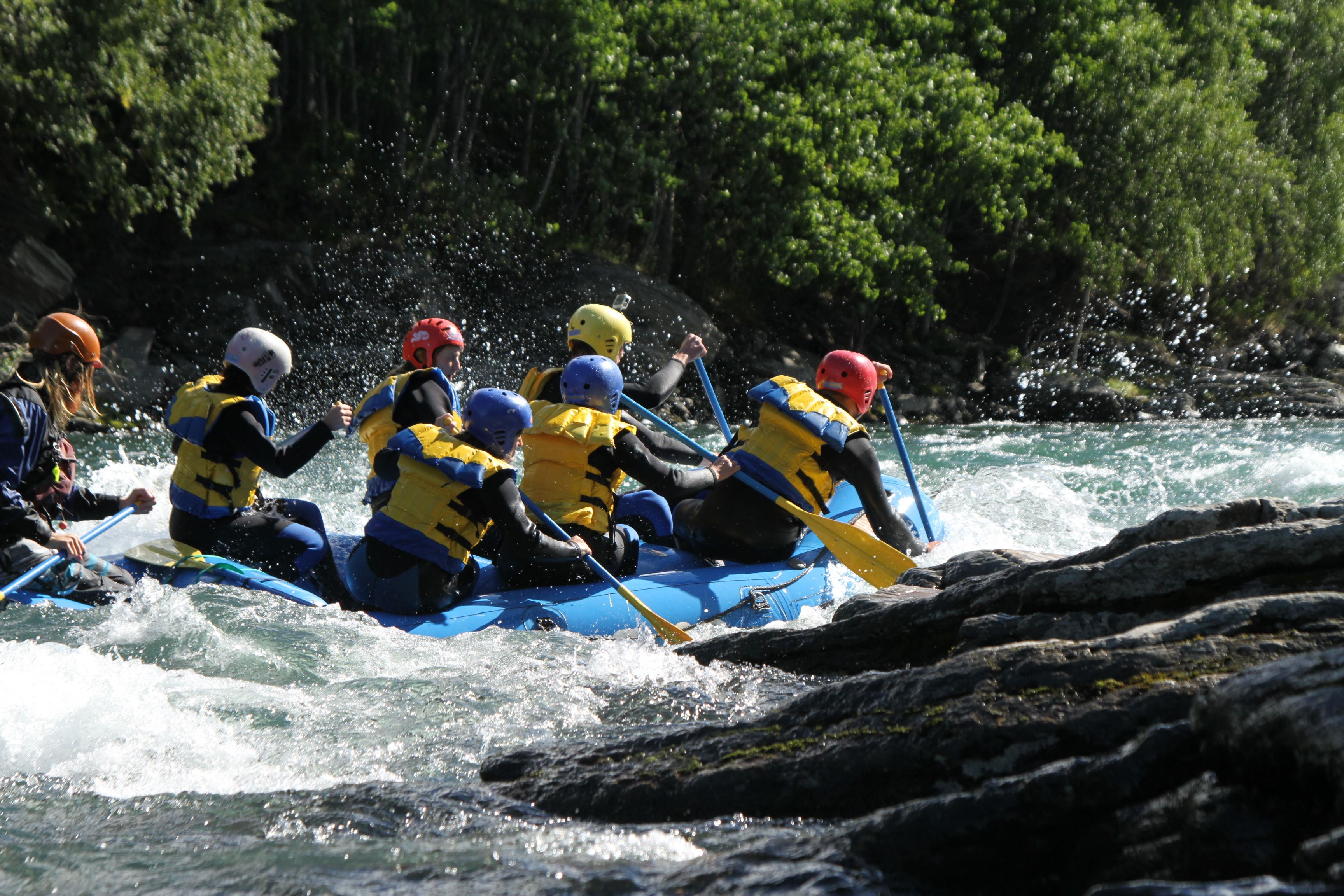 Sjoa Double, Rafting