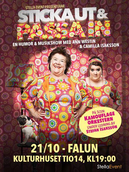 Ann Westin – Sticka ut & Passa in – En musikalisk humorshow