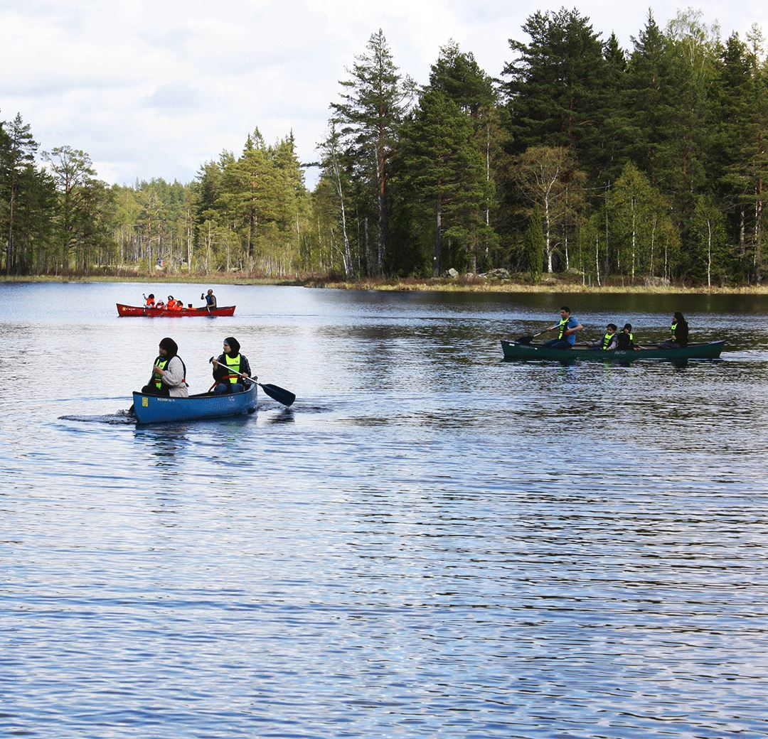 Canoeing or cycling in Högbo Bruk