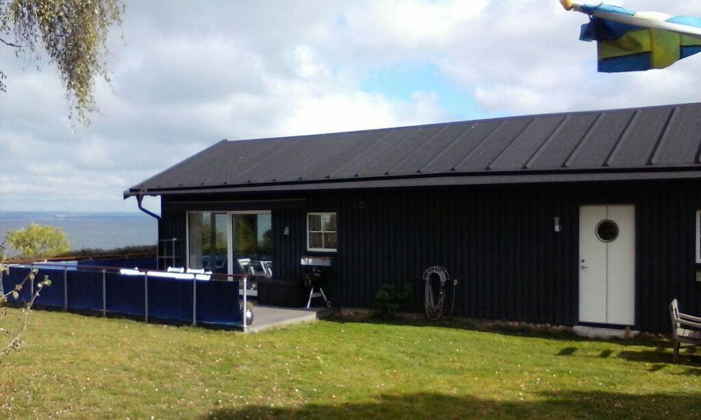 Nybyggt sommarhus på Skäret