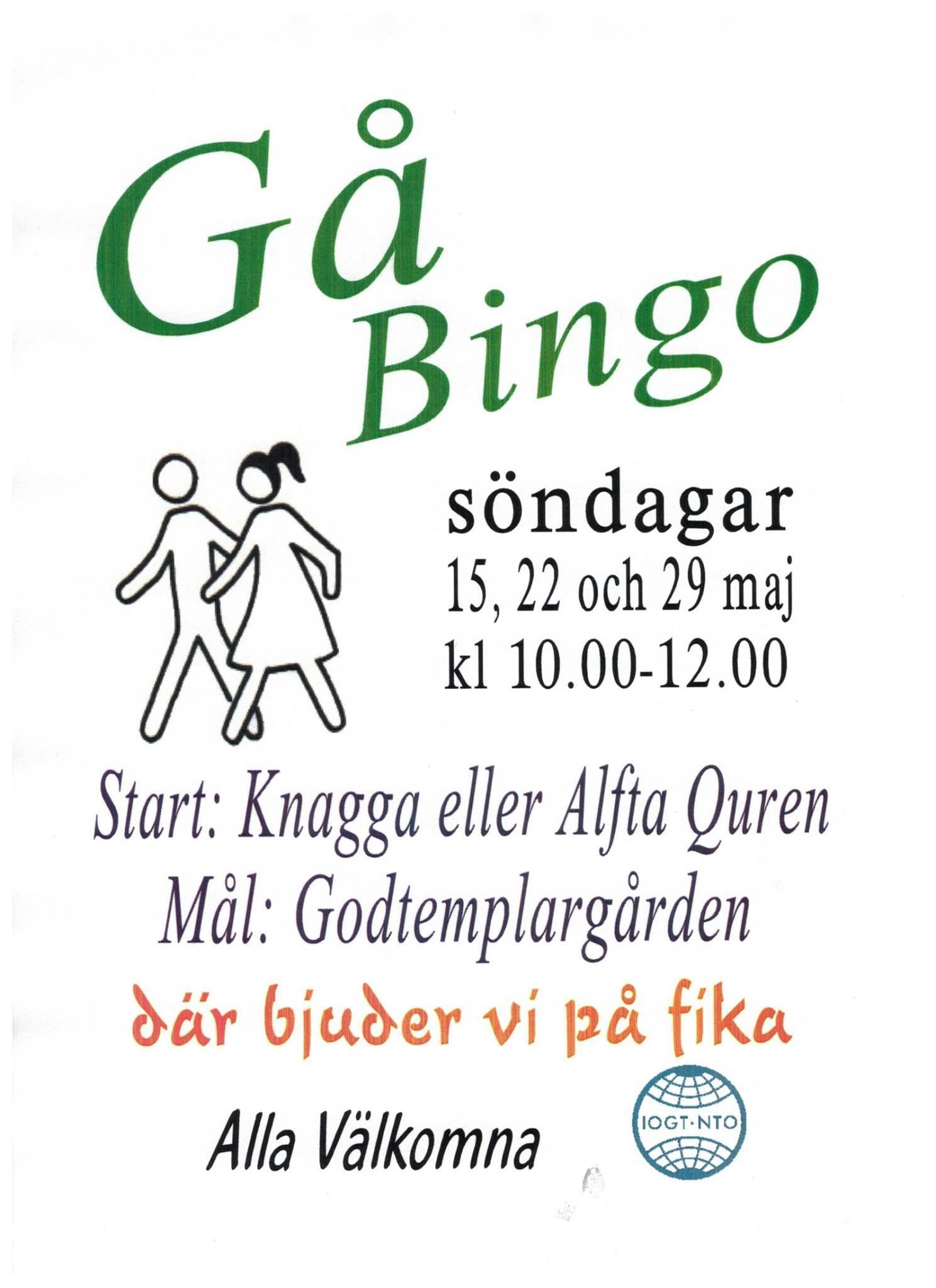 Gåbingo, Godtemplargården Alfta