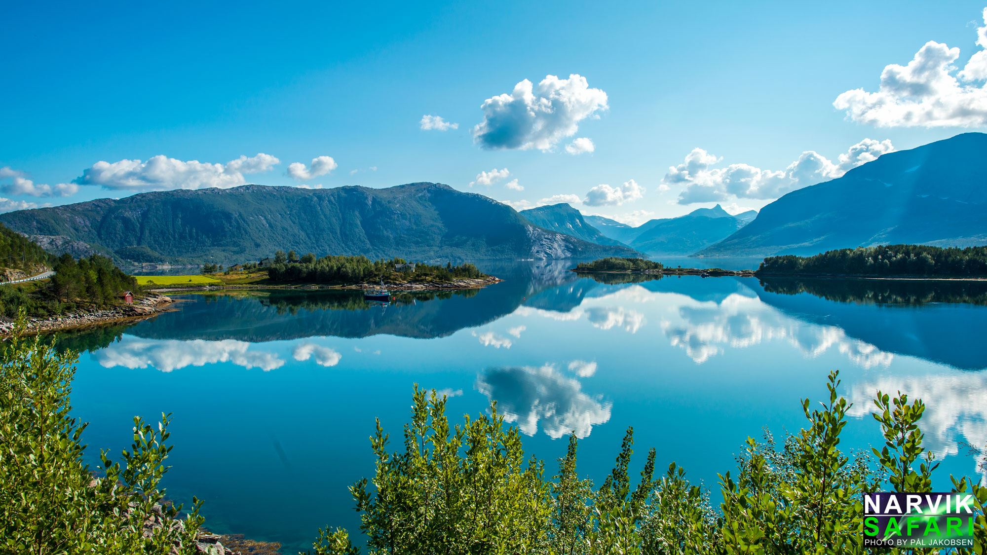 Efjord with national mountain of Norway - Stetind