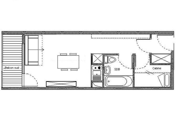 Studio cabin 4 pers 150 meters from the slope / ASTERS C3 82