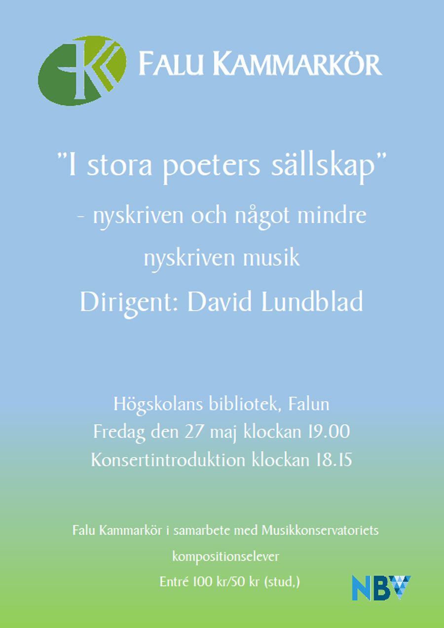 Falu Kammarkör - I stora poeters sällskap