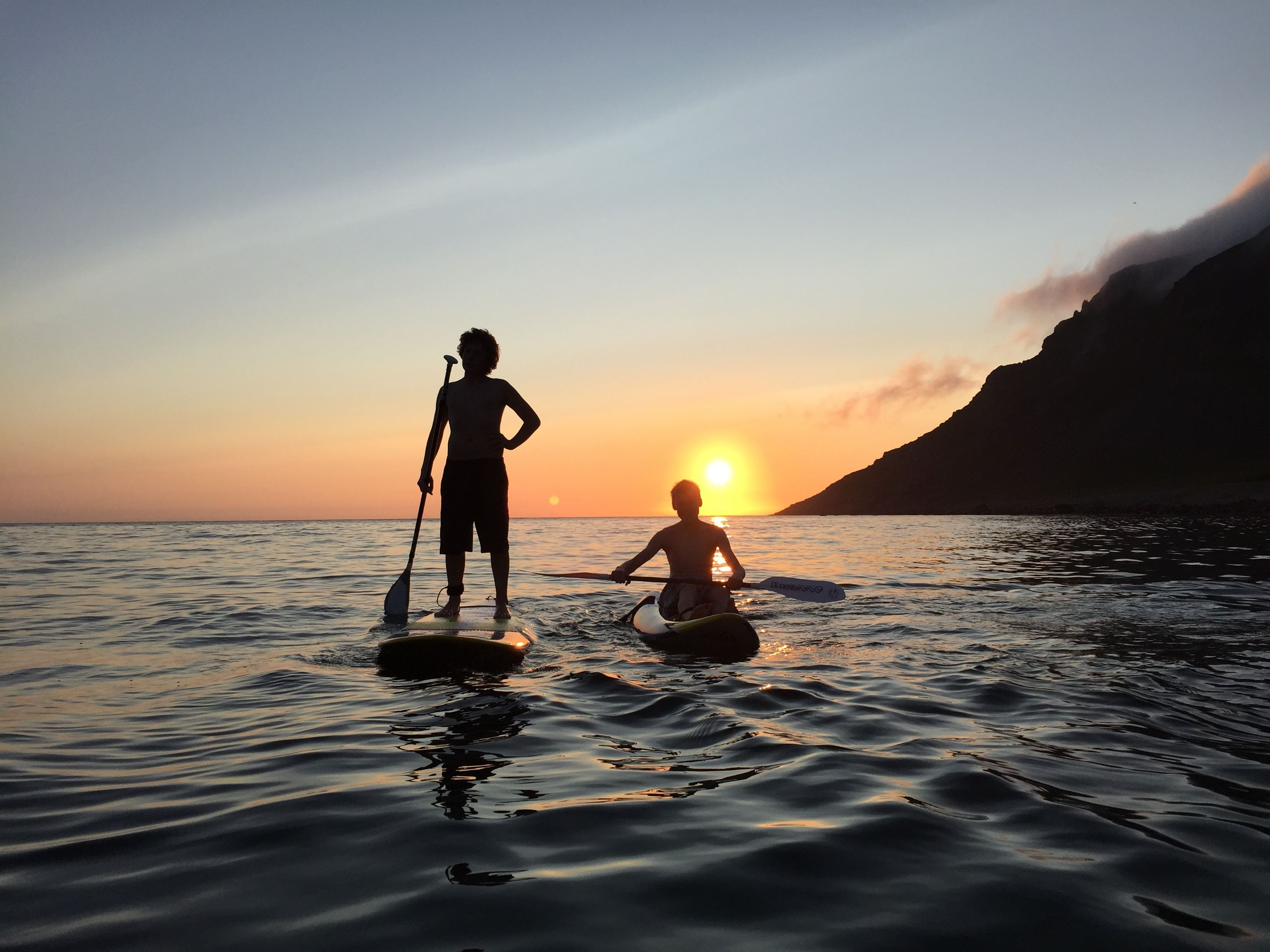 Learn to Stand Up Paddle in magic Nusfjord with Lofoten Adventure Company (3hrs)