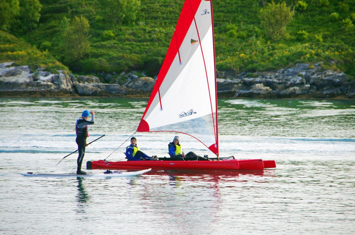 Laurence-Fremion,  © 69 Sommarøy Outdoor Center, Utleie av Stand Up Paddle på 69 Nord Sommarøy Outdoor Center