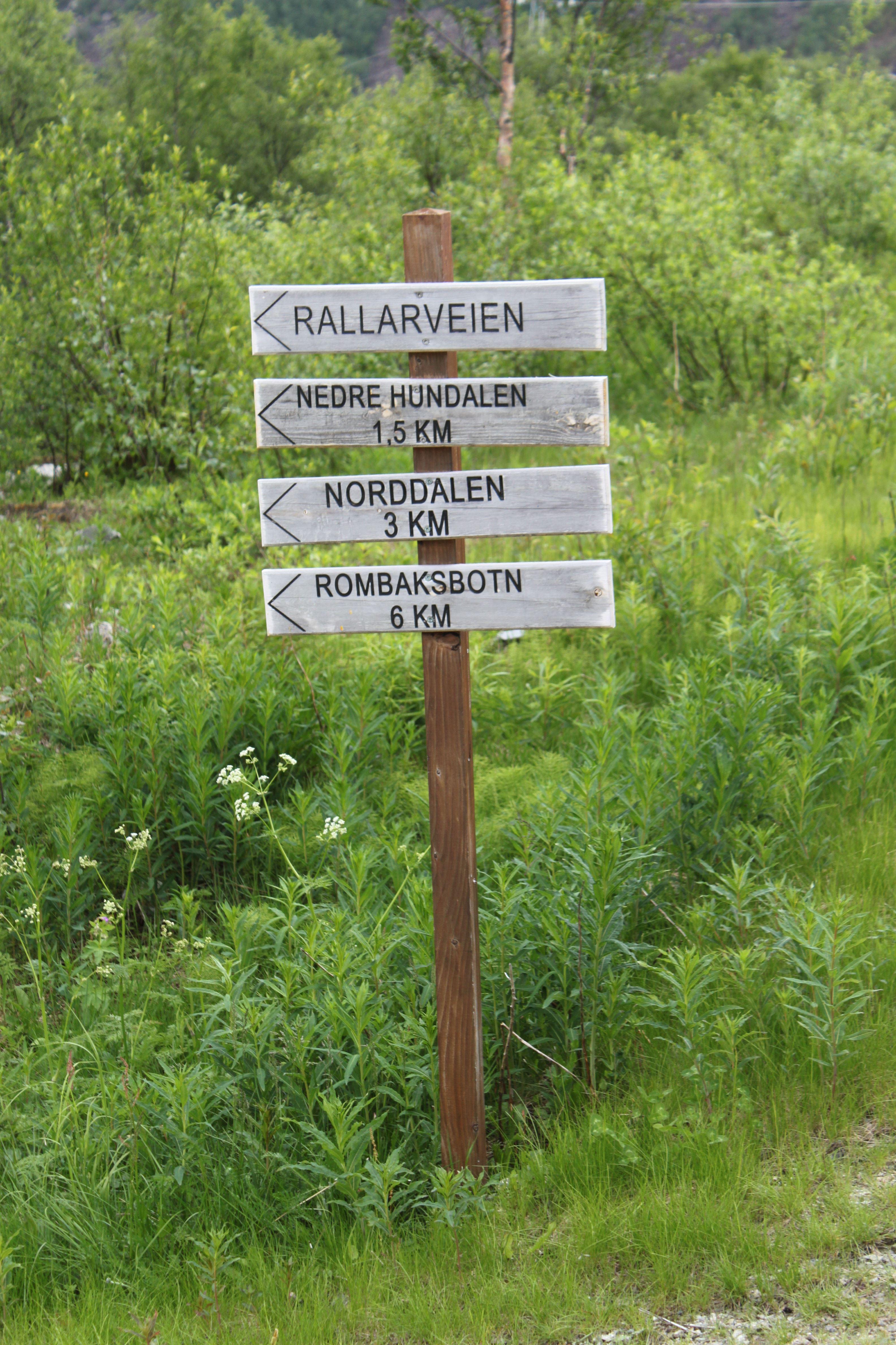 © Visit Narvik, Rallarveien sign